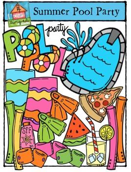 Summer Pool Party (P4 Clips Trioriginals Digital Clip Art)