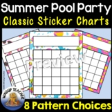 Summer Pool Party Sticker Charts