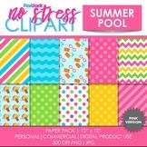Summer Pool (Pink) Digital Papers