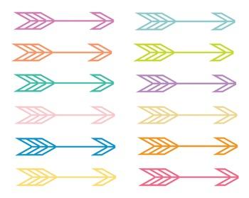 Summer Pop Arrow Clipart, Arrow Set #226