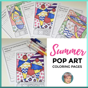 End of the Year Activity | Interactive Summer Coloring Pages + Writing Prompts