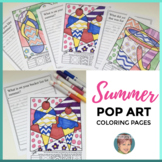 Interactive Summer Coloring Pages + Writing | Fun End of t