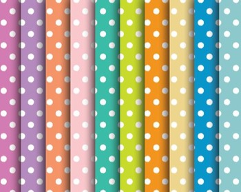 Summer Pop Polka Dot Papers, Summer, Pop, Polka, Dot, Set #252