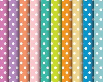 Summer Pop Polka Dot Papers, Summer, Pop, Polka, Dot, Set #252