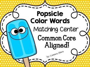 Summer Popsicle Color Word Matching