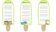 Summer Popsicle Sticks for Speech