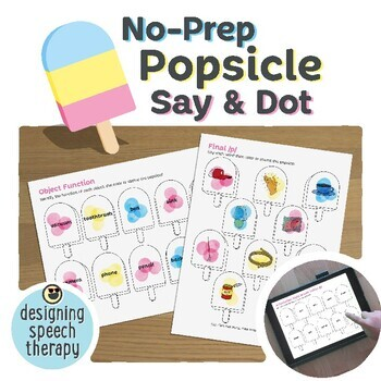 Summer Popsicles Articulation & Language Activities