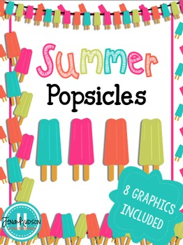 Summer Popsicles Clipart