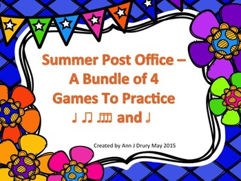 Summer Post Office - A Bundle of 4 Games to Practice Rhythm