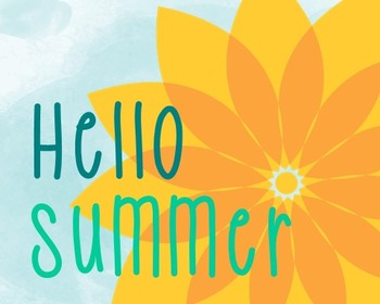Summer Poster, Class Decor, Holiday Sign, Bulletin Board