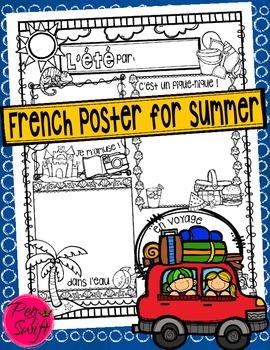 Summer Poster • French • L'été