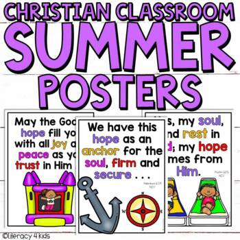 Summer Posters for the Christian Classroom (Grades 2-3)