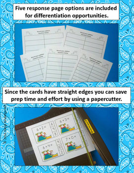Summer Practice Addition Clip Cards Sums to 10