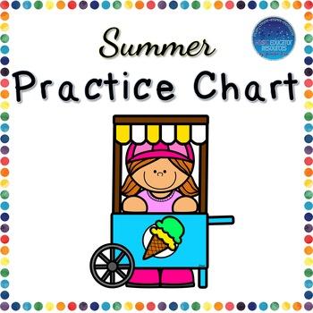 Summer Practice Chart
