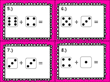 Summer Practice Dice Math Sampler
