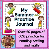 Summer Practice Journal with spelling, writing and math pages
