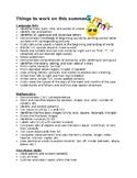 Summer Practice List for Parents