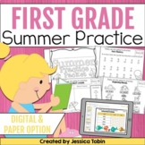 Summer Packet First Grade with Google Classroom Distance Learning