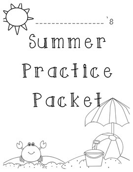 Summer Practice Packet Cover