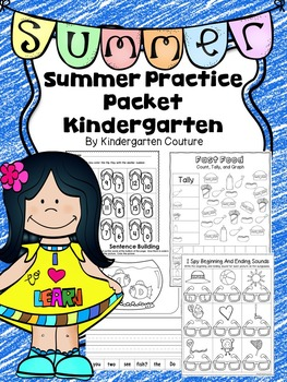 Summer Practice Packet For Kindergarten