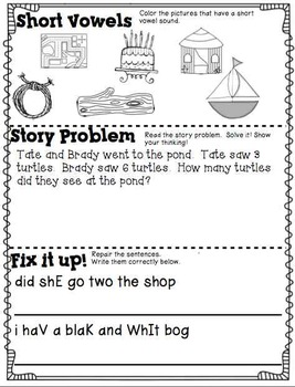Summer Practice Packet- Getting Ready for 1st Grade