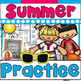 Summer Practice Packet (Kindergarten to First) Math, Reading, Writing, & More!