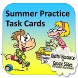 Summer Practice Task Cards Digital Resource