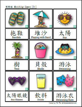 Summer Theme FULL Pack  (English with Traditional Chinese)
