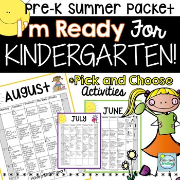 Kindergarten Summer Worksheet Packet