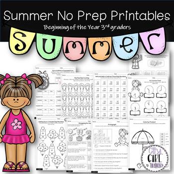 Summer Prep Printables for 2nd grade