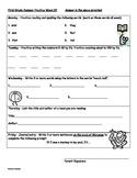 Summer Preparation Guide for 1st Grade