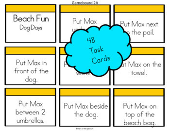 Preposition Activities (Positional Words) Beach