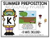 Summer Preposition Activity Mats