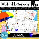 Summer Math & Literacy Activities- NO PREP {Color & BW set included}