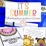 SUMMER THEME ACTIVITIES FOR PRESCHOOL, PRE-K AND KINDERGARTEN