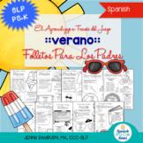 Summer Preschool Speech and Language Packet: SPANISH