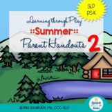 Summer Preschool Speech and Language Packet VERSION 2