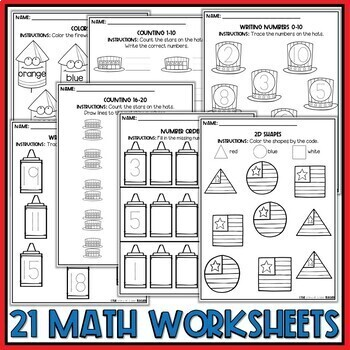 Summer Preschool Worksheets July