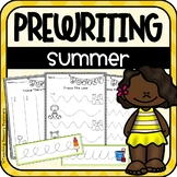 Prewriting Worksheets + Practice Strips (Summer)