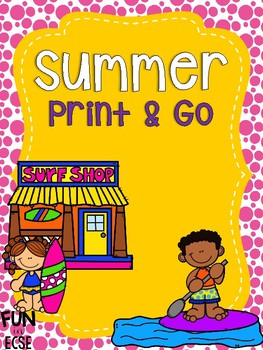 Summer Print and Go! for Pre-K and Kindergarten