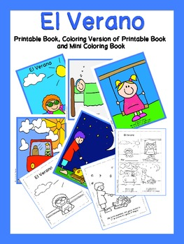 Summer Printable Book and Mini-Coloring Book {Spanish} | TpT