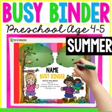 Summer Printable Learning Busy Book Preschool Age 4-5 - CUSTOM