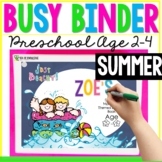 Summer Printable Learning Busy Book Preschool Toddlers Age 3-4 - CUSTOM