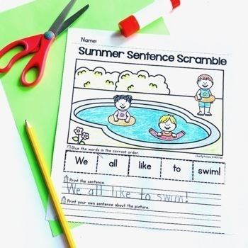 Summer Activities - Math and Literacy Printable Activities
