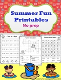 Summer Printables (Early Primary)