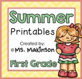 Summer Printables - First Grade