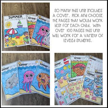 Summer Printables Getting Ready for Kindergarten