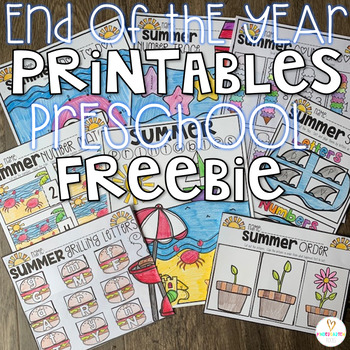 Summer Printables Getting Ready for Kindergarten {Freebie}