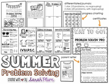 Summer Problem Solving Journal {For Success!}