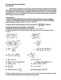 Summer Problems for Incoming Calc AB Students